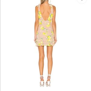 Annalise Mini Dress in Tan Lemon MAJORELLE